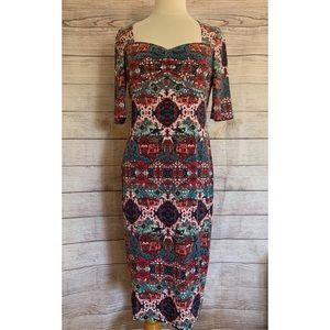 Maggy London Kaleidoscope Midi Dress